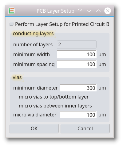 Printed Circuit Board layer setup
