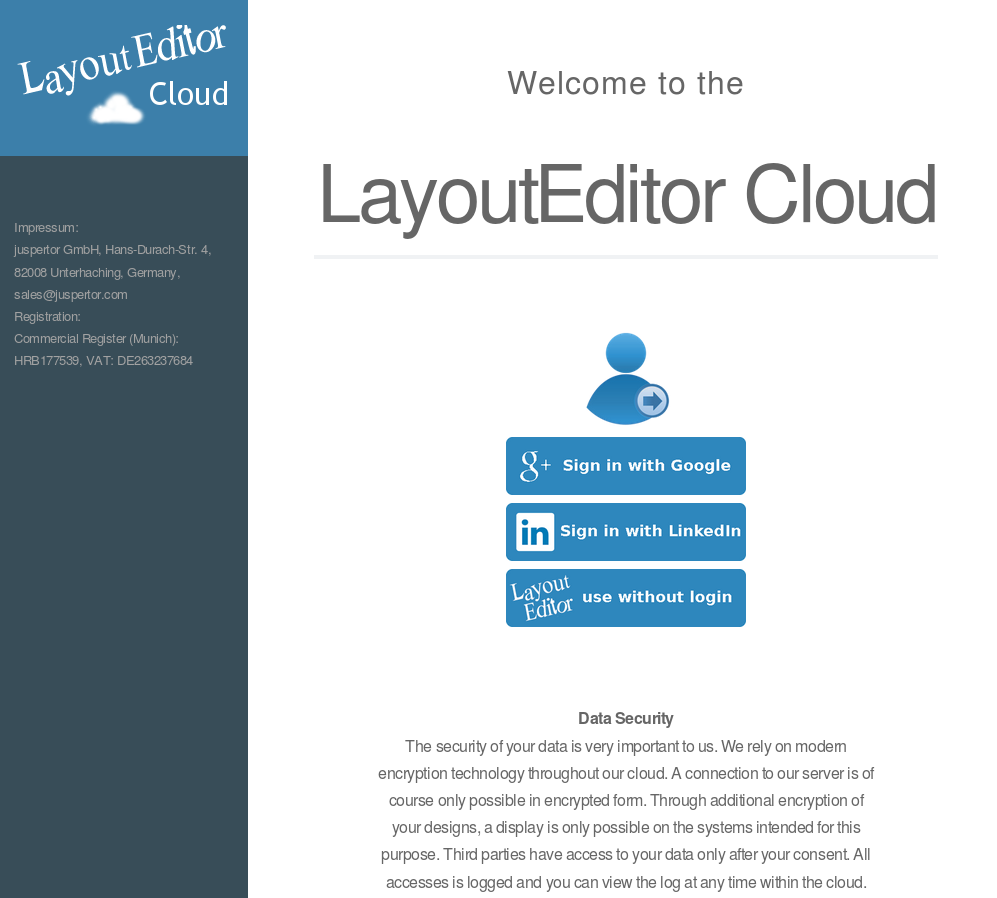 LayoutEditor cloud